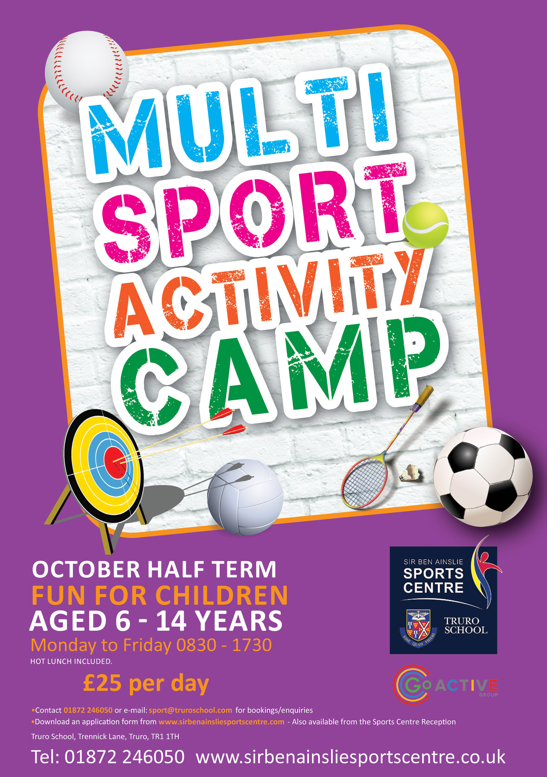 October Multi Sport Activity Camp Sir Ben Ainslie Sports